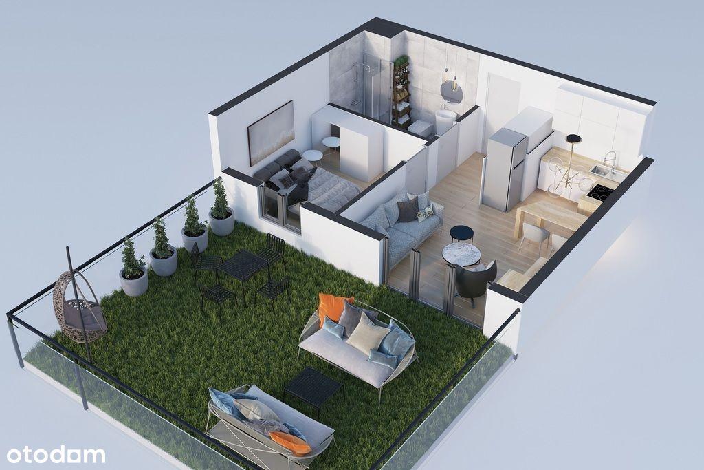 2 pokoje, ogródek, ekspozycja: południowa, Mpec