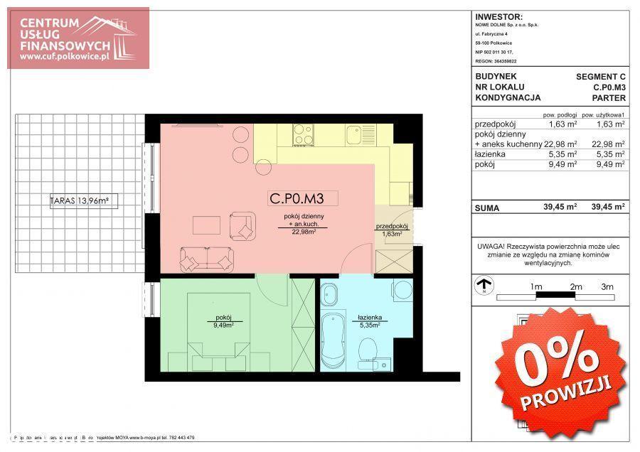 2 pok. 39,45 m2 Nowe budownictwo, Polkowice