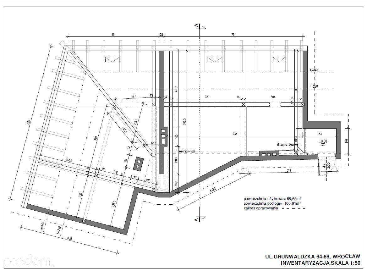 Lokal na poddaszu do adaptacji Plac Grunwaldzki