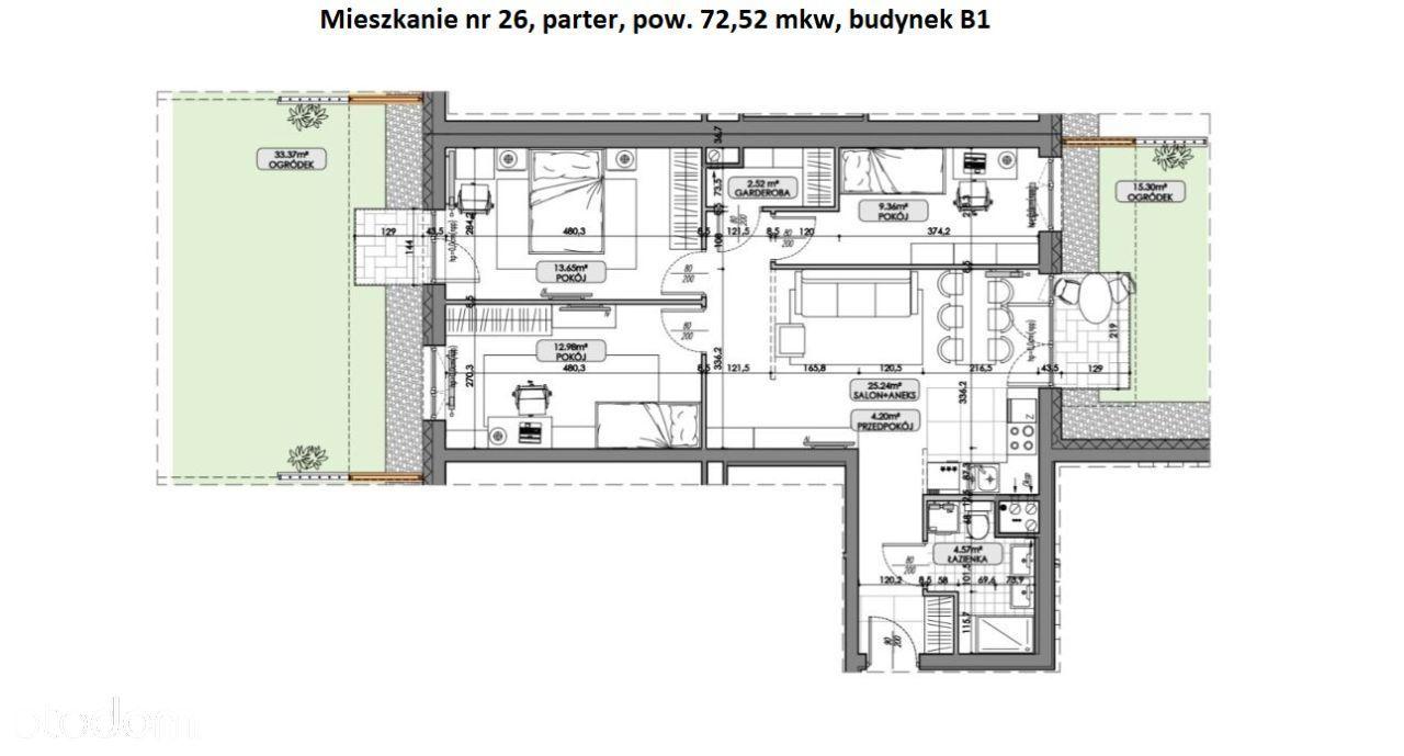 Nowe mieszkanie - 2 ogródki !!!