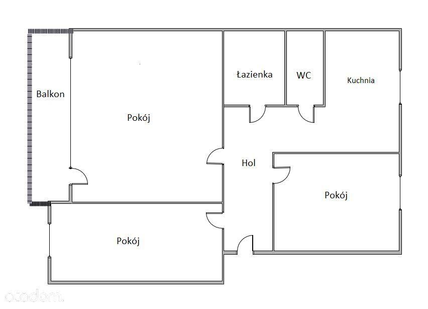 Mieszkanie 3-pokojowe na ul. Barwinek