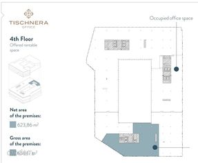 Lok. 623m2 3p. piękny biurowiec Tischnera Office