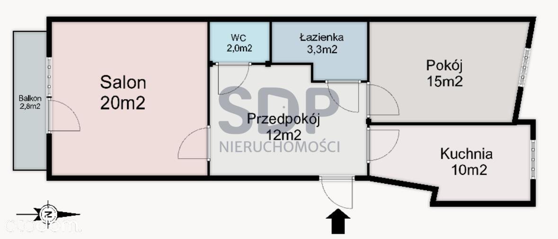 2 pokoje, balkon, komórka lokatorska, duże M2