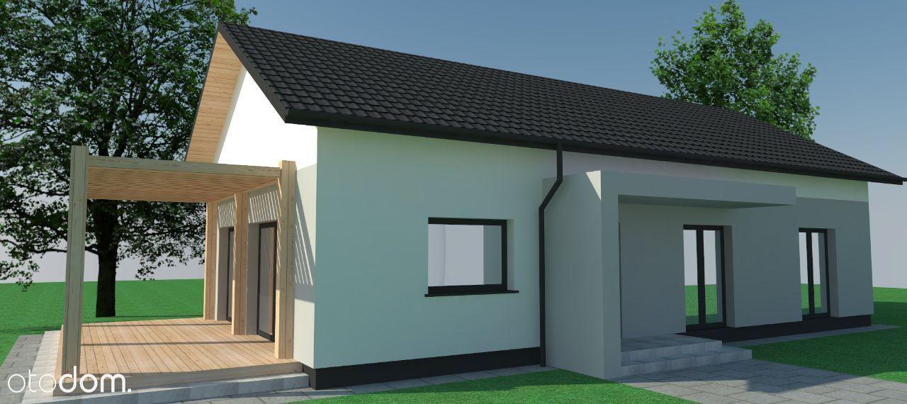 nowe parterowe domy w trakcie budowy