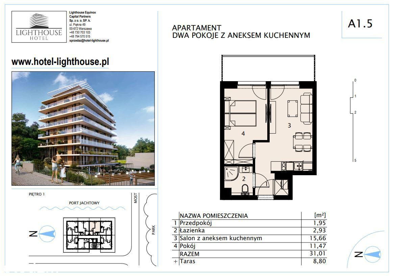 Lighthouse Hotel - Mrzeżyno - Apartament A 1.5