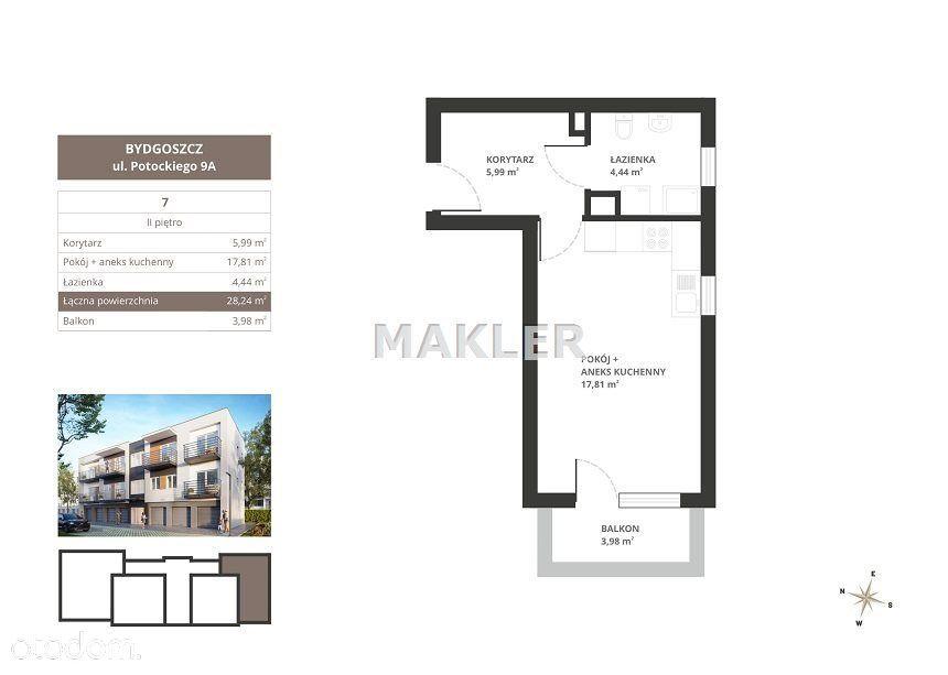 Mieszkanie w nowej inwestycji Potockiego 9A