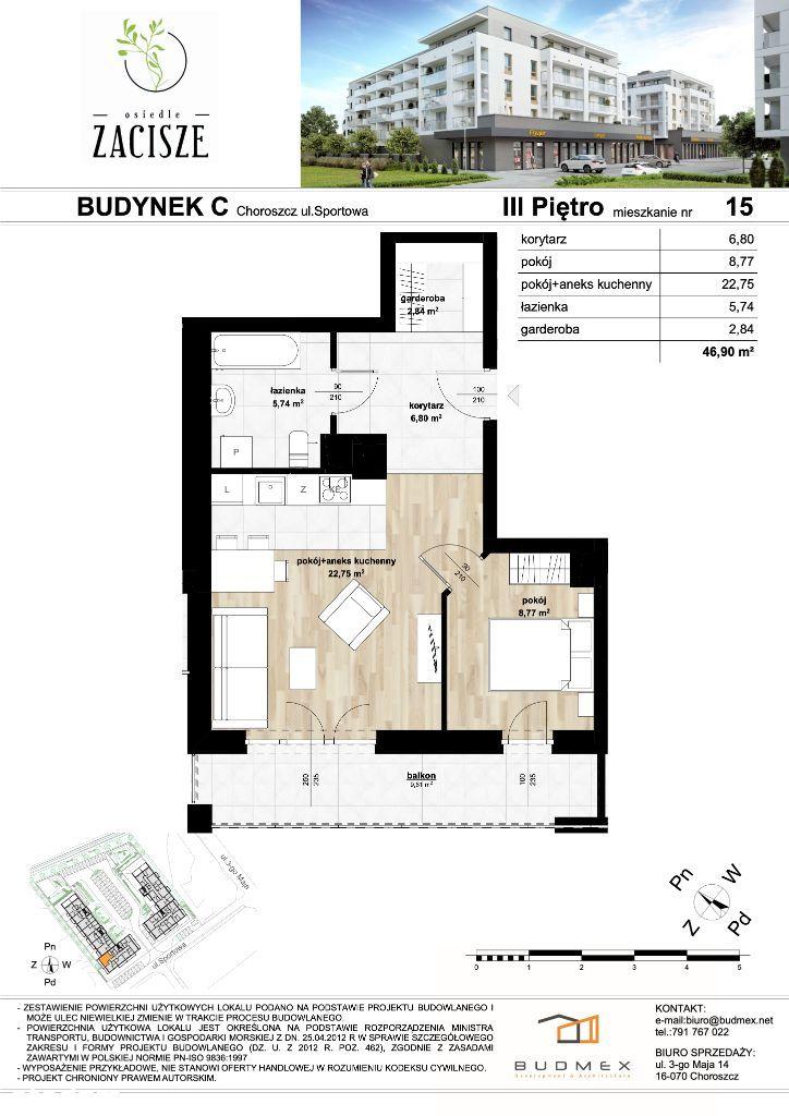 Osiedle Zacisze piękne mieszkanie 2 pokoje balkon