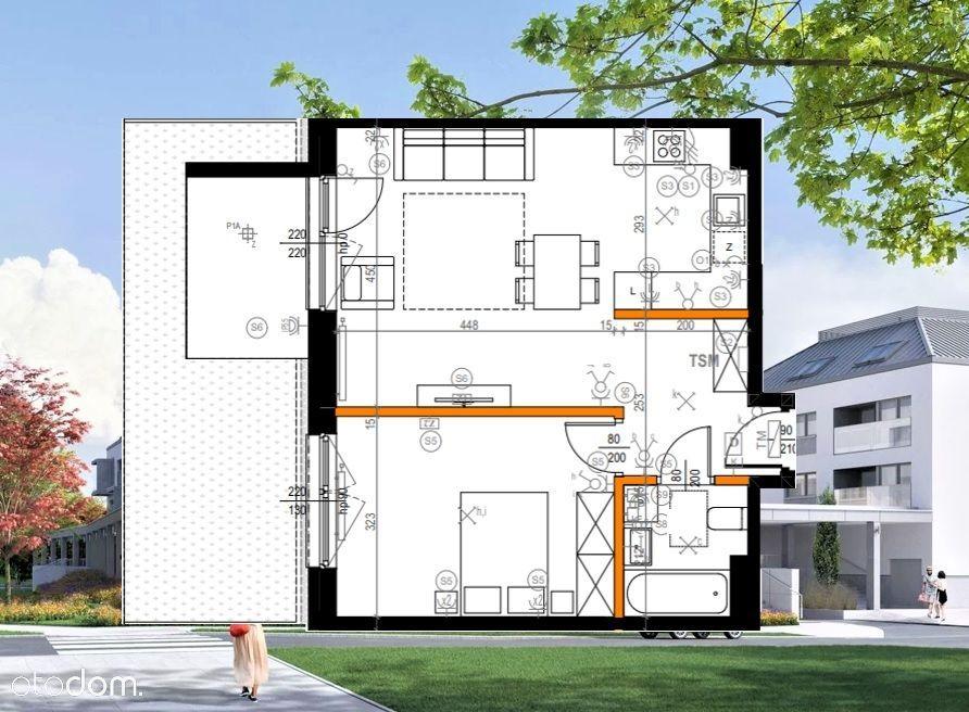 Komfortowe 2 pokoje z ogródkiem * Nowe osiedle !!!