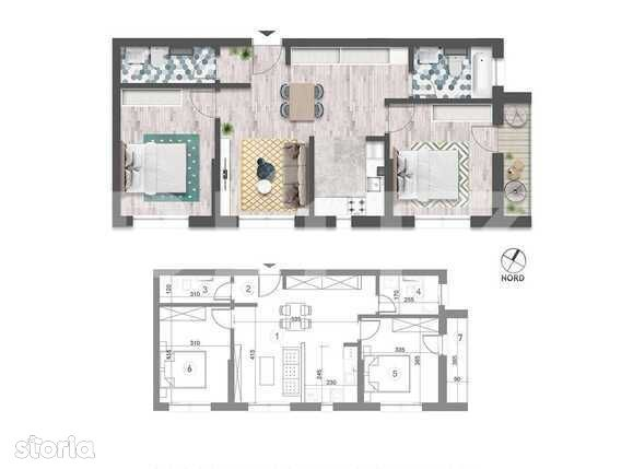3 camere, 67 mp utili, balcon, etaj intermediar! Optional parcare!