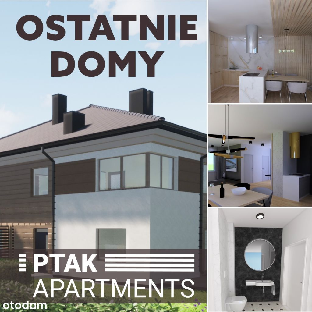 Ostatnie domy 110m Rzgów Łódź PTAK Apartments