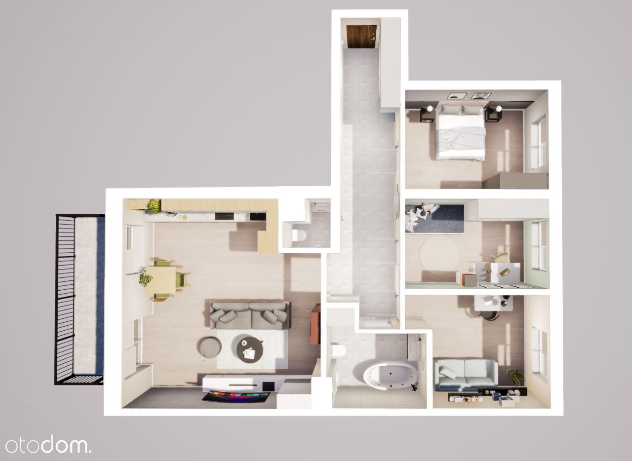 Przestronny apartament z ładnym widokiem