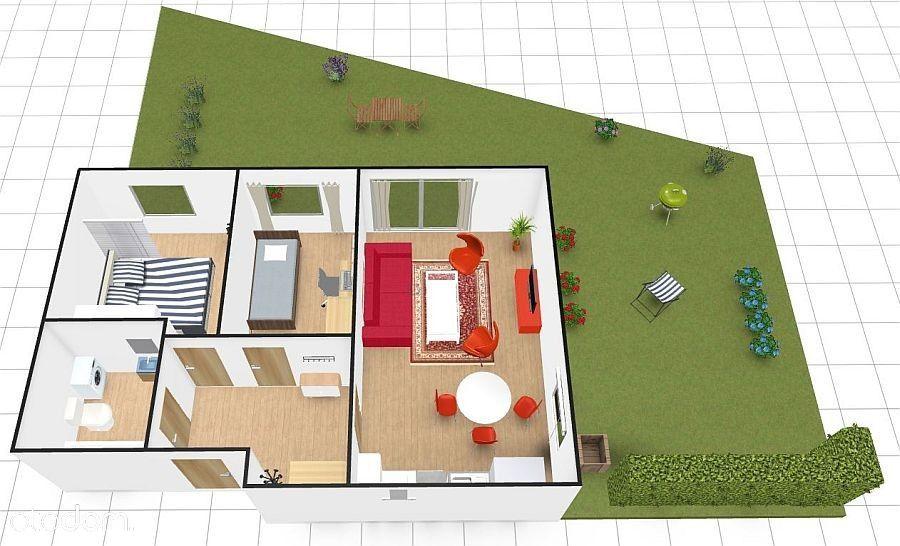 3 pokoje z dużym ogródkiem, fajna lokalizacja