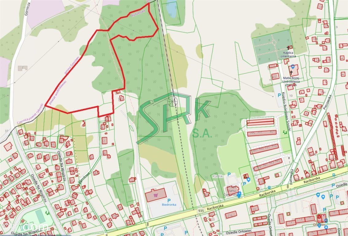 Działka, 29 907 m², Rydułtowy