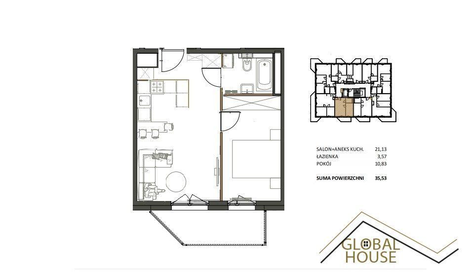 2 pok, 35m, balkon,winda,cesja, ul.Piltza, Ruczaj