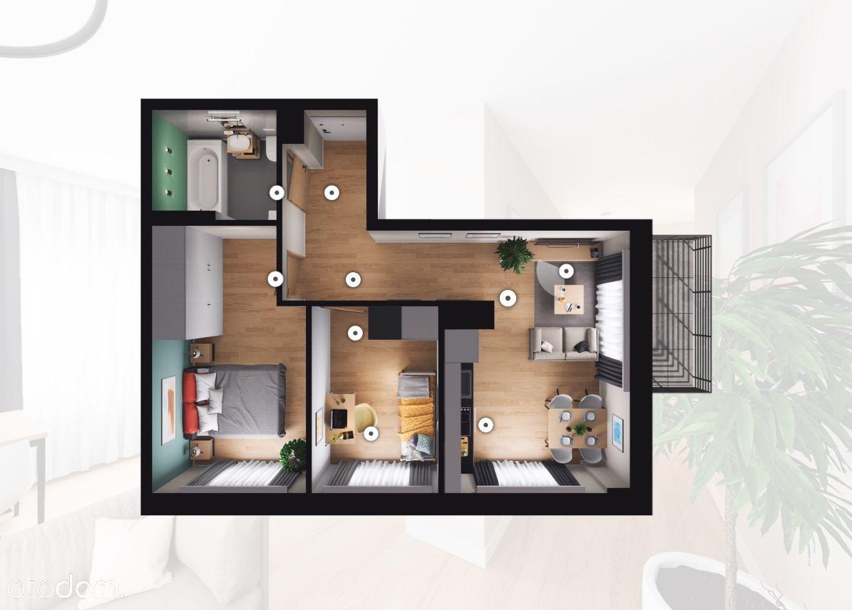 Nowe Mieszkania Bezczynszowe/3 Pokoje/0%