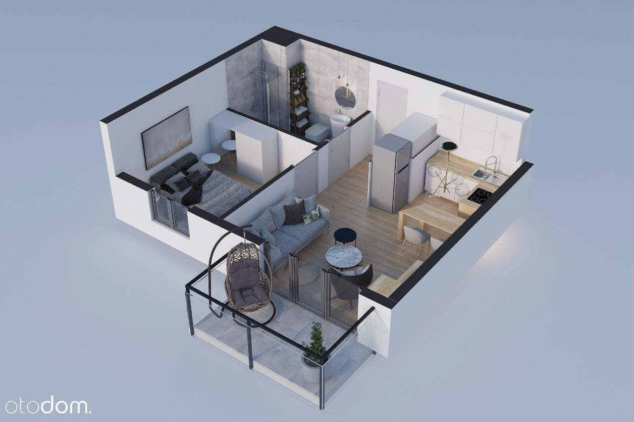 Nowe mieszkanie z balkonem blisko centrum, miejsce
