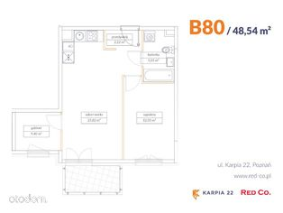 KARPIA 22, I etap, mieszkanie nr B 80