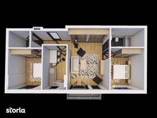 Solaris Prisma, Apartament 3 camere, str. Oasului nr. 51-55