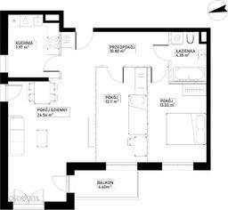 Mieszkanie B22 Harmonia+ Karpia 27
