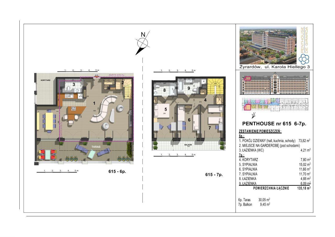 615 Penthouse de Girarda 25min do Centrum Warszawy