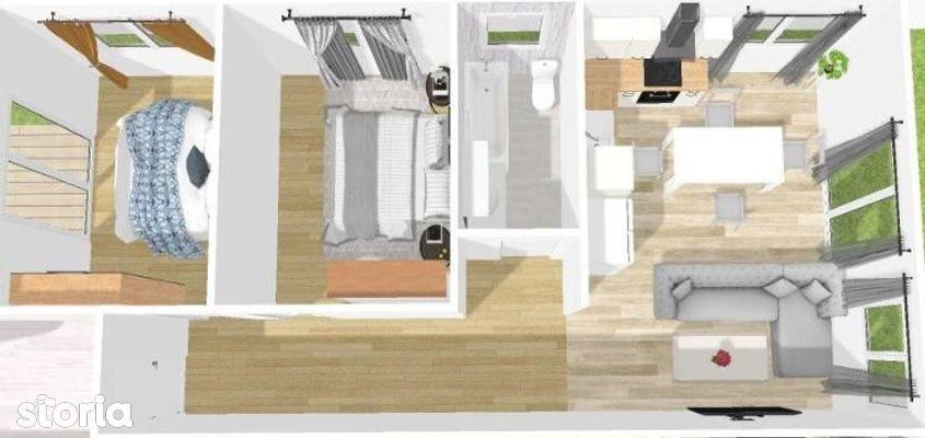 Etaj 2/Apartament 3 camere, 62 mpu, Calea Cisnadiei-Profi