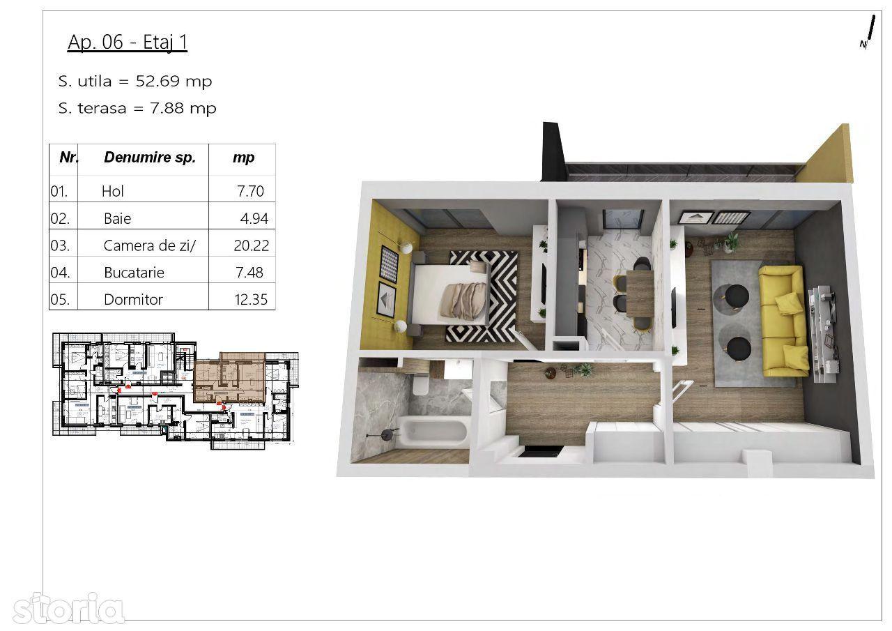 Apartament bloc nou, Buna Ziua
