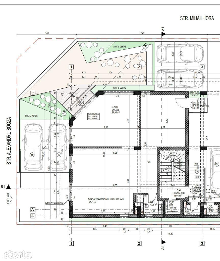 Apartament/Sp. Comercial - Nautica VIII - 100 mp util+gradina+loc parc