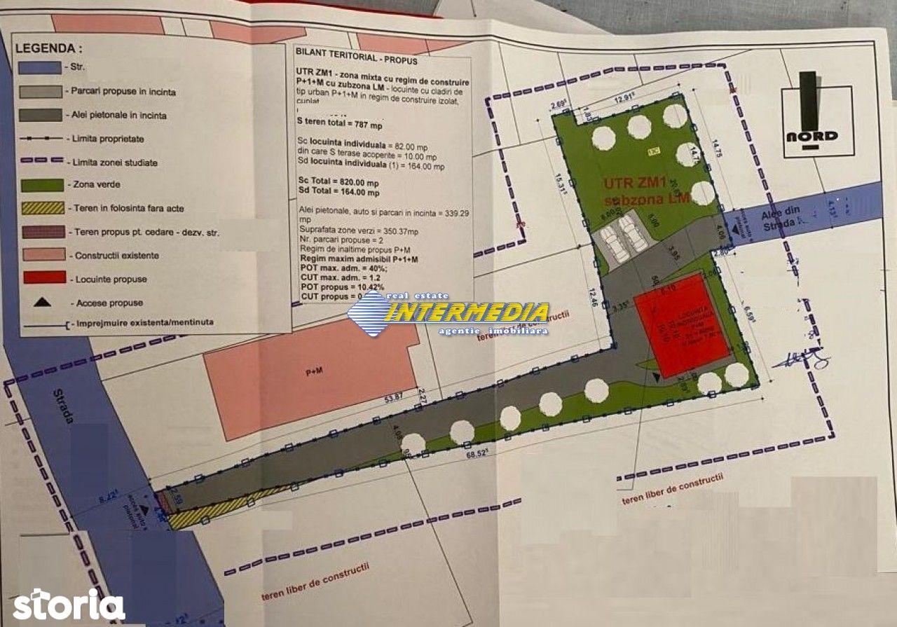 TEREN INTRAVILAN 800 mp DE VANZARE CETATE  IDEAL INVESTITIE