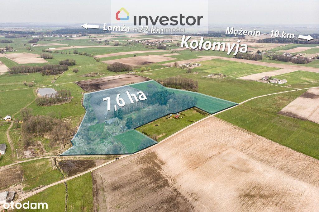Grunty rolne z siedliskiem - łącznie 7,62 ha