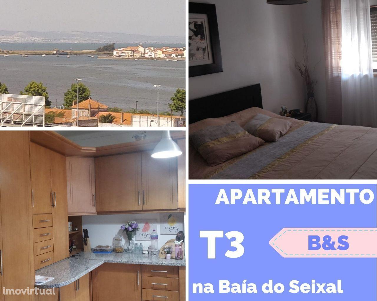Apartamento T3 na 1ª linha da Baía do Seixal