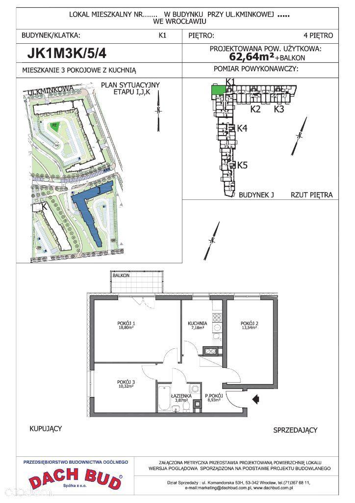 3-pokoje z kuchnią,parking gratis, Korzenna