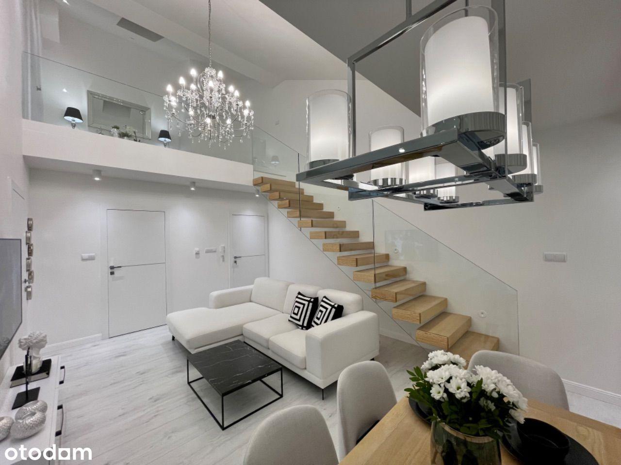 Luksusowe dwupoziomowe mieszkanie 86m2 3pok.