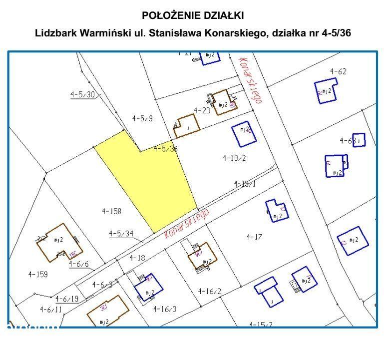 Działka, 1 102 m², Lidzbark Warmiński