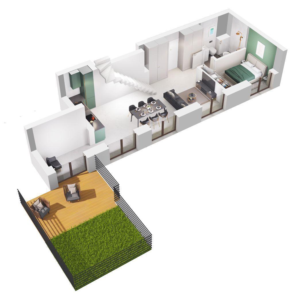Penthouse z OGRODEM na DACHU centrum Tuwima