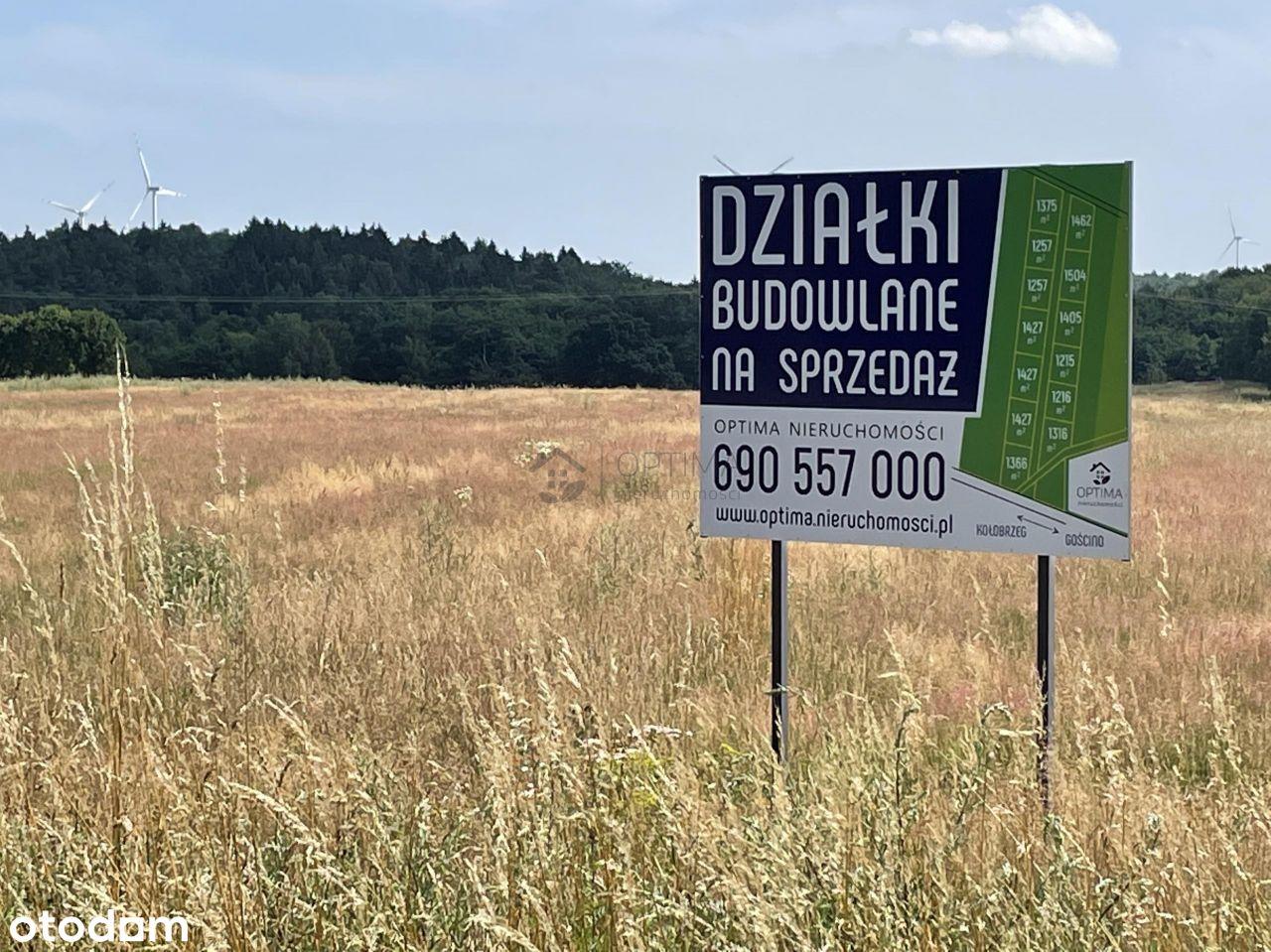 Działka 1366m2 w Ząbrowie - 8 km od Kołobrzegu