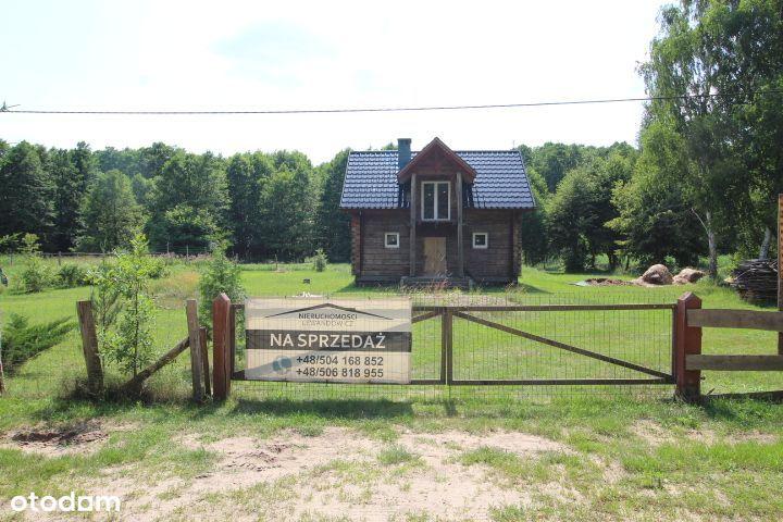 Dom drewniany do wykończenia -na sprzedaż -Drzewce
