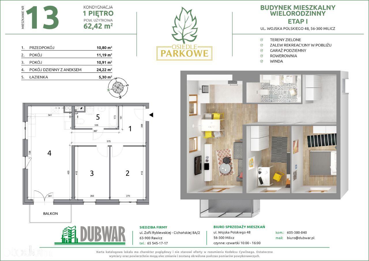 Komfortowe mieszkanie w bloku z windą i garażami