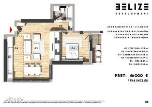 Apartament 2 Camere Belize Residence Cernica