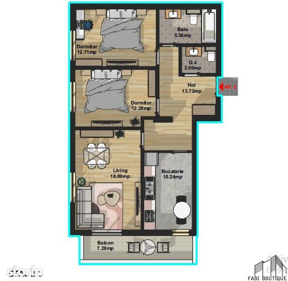 Apartament 3 camere - Aparatorii Patriei