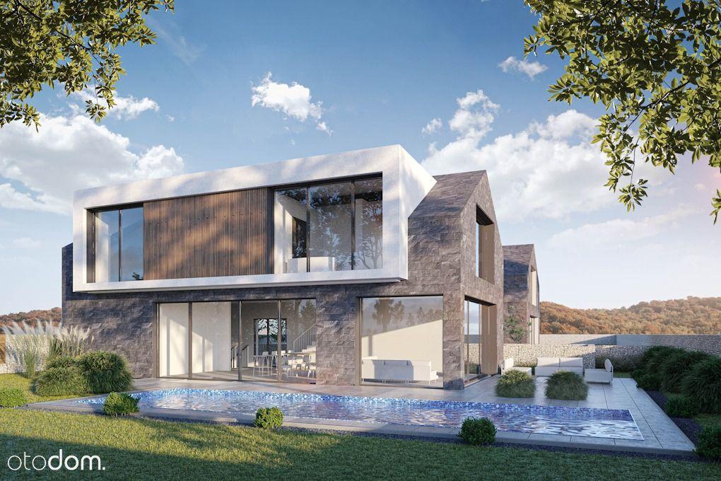 Luksusowy nowoczesny dom z basenem i windą