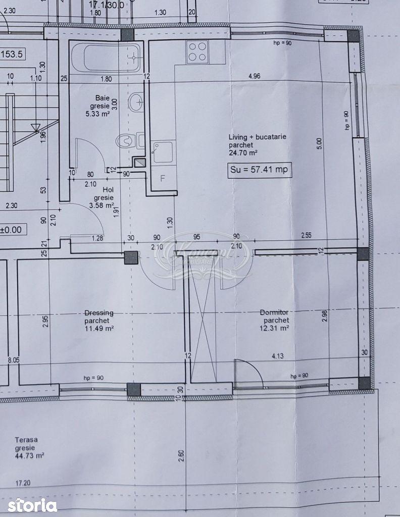 Apartament cu 2 camere, terasa, gradina si garaj in zona Sub Cetate