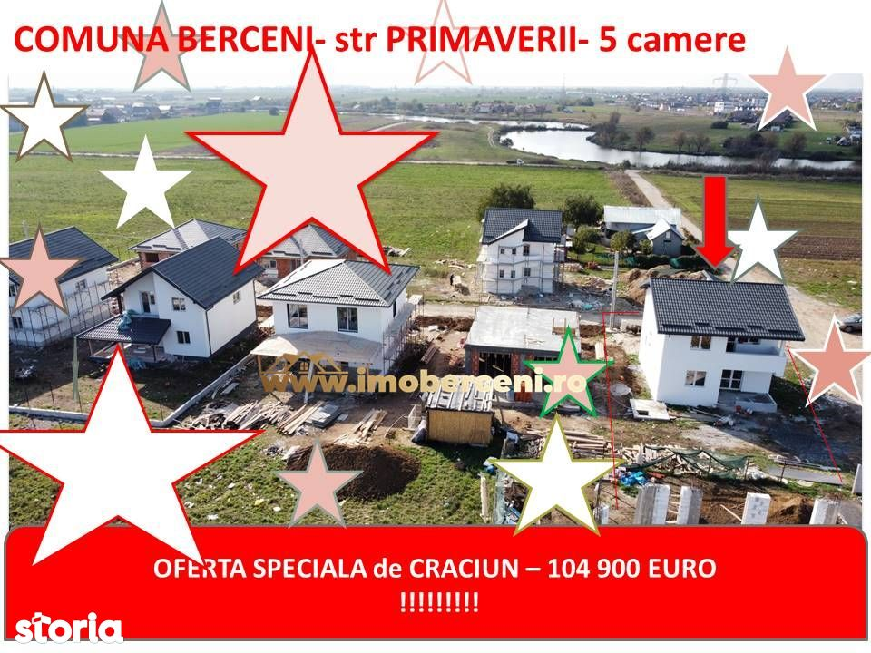 VAND CASA 4 CAMERE- str PRIMAVERI-comuna Berceni -curte 400 mp