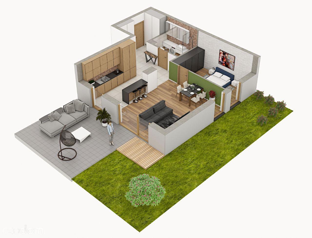 Nowe mieszkanie z ogródkiem, Panorama Apartamenty.
