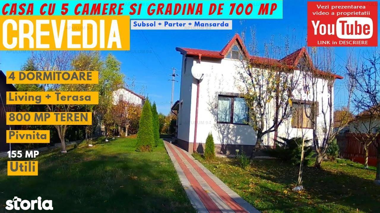 Casa cu 5 Camere si Gradina de 700 mp in Crevedia