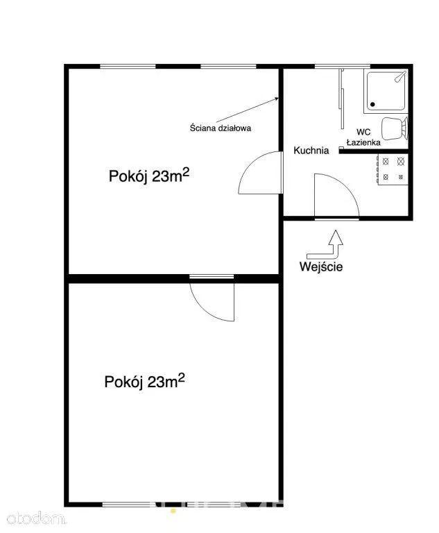 BEZ PROWIZJI, 2 lub 3 pokoje, FABRYCZNA, 1 Piętro