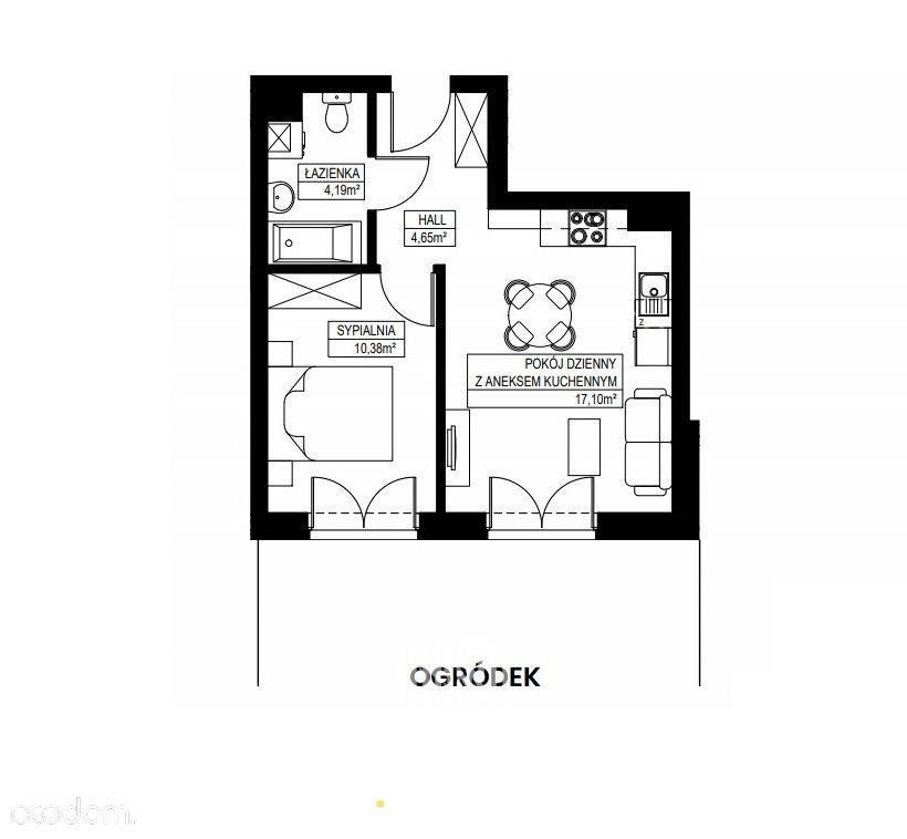 2 pokoje + ogródek, 37m2! 2022r.!