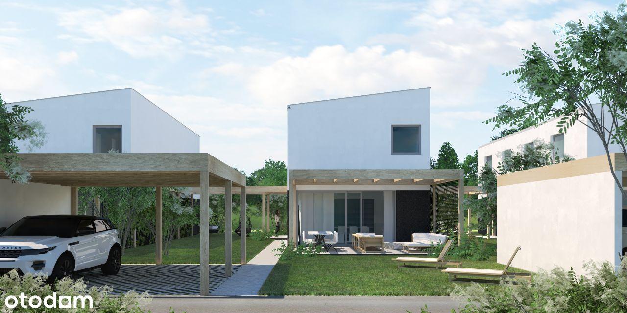 Ekologiczne domy z ogródkiem - PV i pompa ciepła