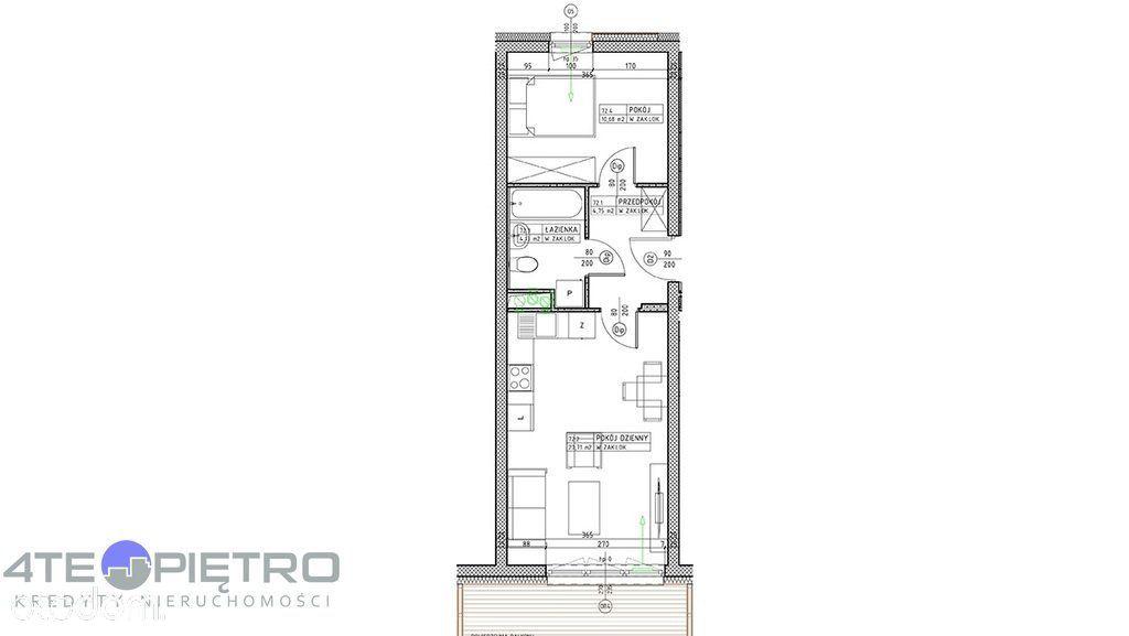 Nowe mieszkanie, 2 pokoje + Ak, 39m2, Czuby, 2022r