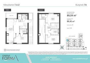 7.A.2 Dwupoziomowe mieszkanie 4-pokoje z antresolą