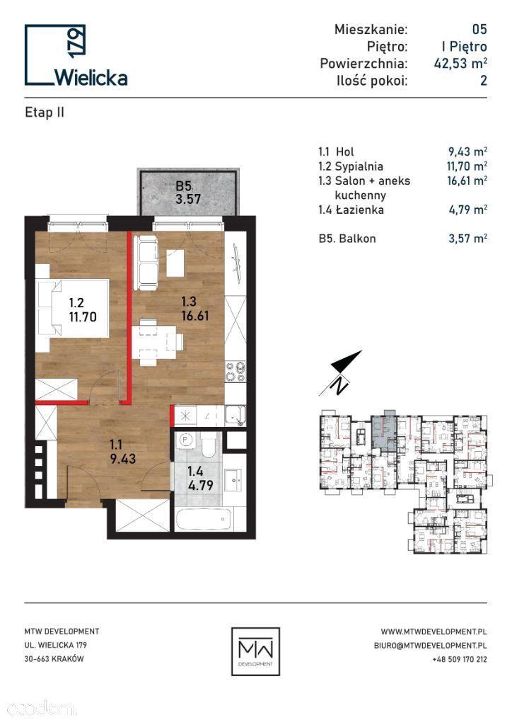 Wielicka 179 | etap II | budynek A mieszkanie 05